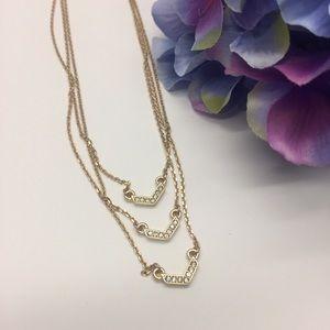 Jewelry - NWT Nicole Miller Chevron Layer Necklace
